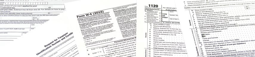 Tax Forms and Tax Envelopes